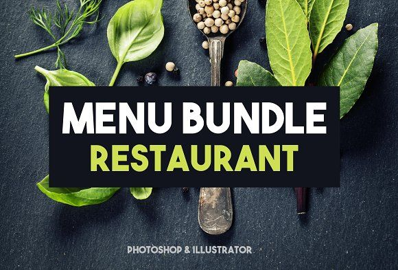 Menu Restaurant Bundle  by BarcelonaShop on @creativemarket