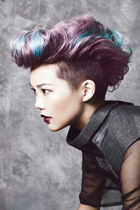 X-FILES  (Partial Lunar)   Cut on a #partial #lunar line the styling creates the lunar curve shape the look is #inspired by.  Coming straight from the worlds #hottest #catwalks, undercuts and disconnection are the must have look for the upcoming seasons.