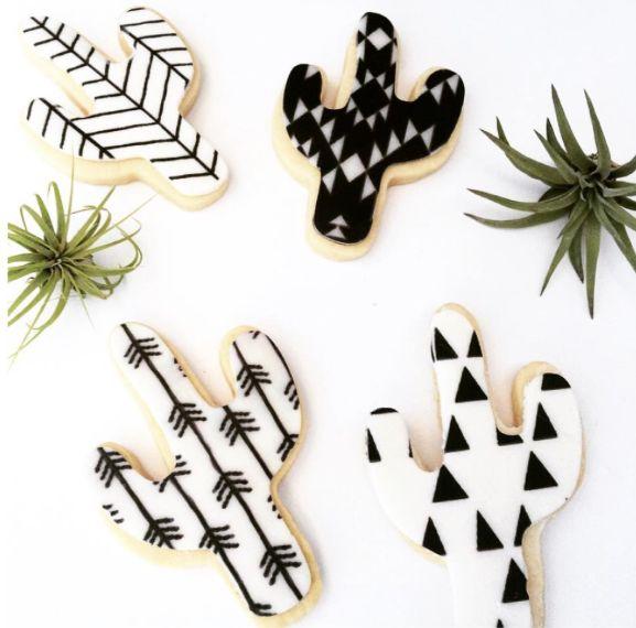 Cactus cookies / Biscuits en forme de cactus
