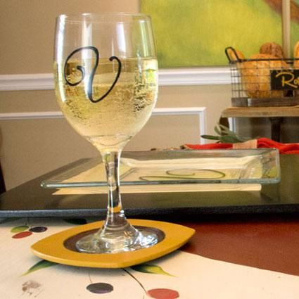 298 best images about crafts decorating dishware on for Painted wine glasses with initials