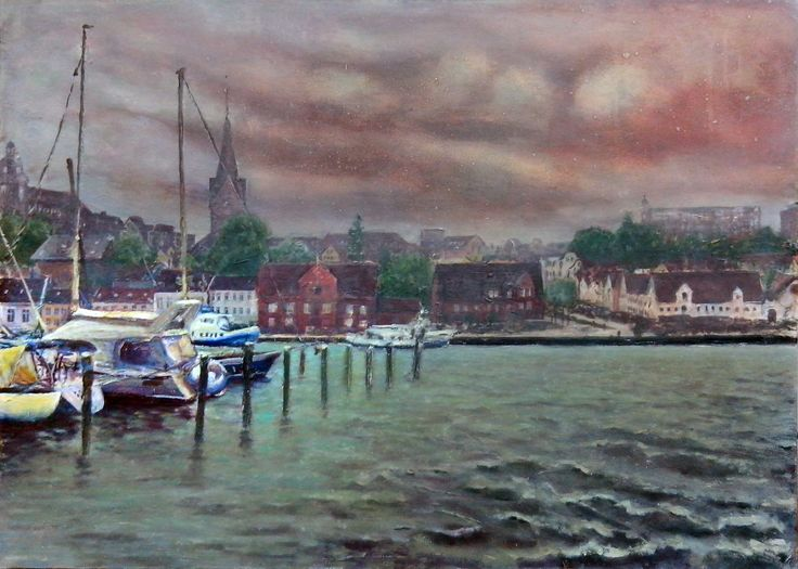 Flensburg From Water II, Acryl on board,  70 x 100 cm, 2015 Making-of: https://youtu.be/TXuZP8WQ_yY All pictures at: http://www.atelier-jhw.de/