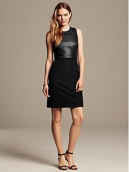 Really looking forward to what else BR has to offer now that Marissa Webb is their Creative Director.  Love this dress:  Sloan-Fit Faux-Leather Sheath   Banana Republic