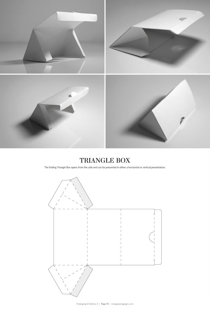 Triangle Box – structural packaging design dielines