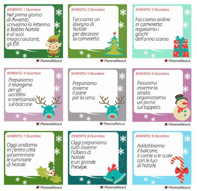 Calendario Attivita.Attivita Calendario Avvento Da Stampare Bambini Natale