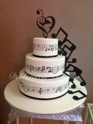 Resultado de imagen para tortas de 15 con notas musicales