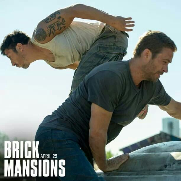 Paul Walker and David Belle in Brick Mansions out April 25, 2014! #rihaw