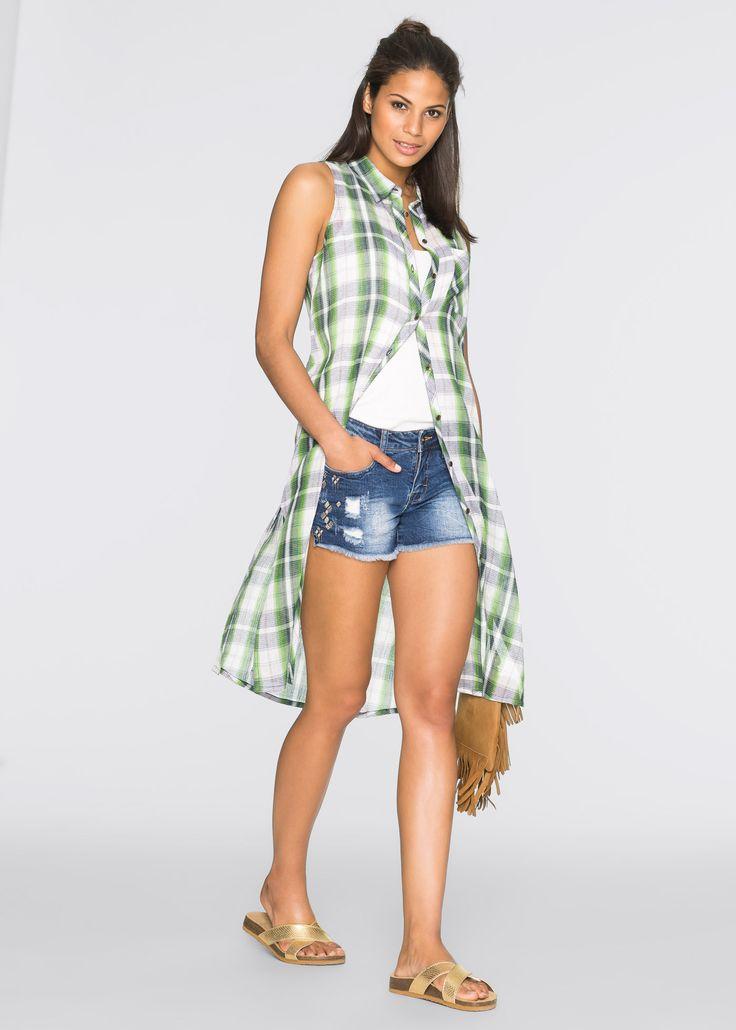 Ruitjesjurk blauw/groen geruit - RAINBOW nu in de onlineshop van bonprix.nl vanaf ? 24.99 bestellen. Geruite jurk met cool crêpe-effect. Met borstzakje, ...
