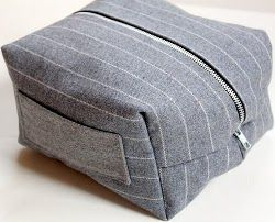 The man in your life needs sewn goods too. Make the Boxy Dopp Kit for his belongings when traveling. Guys are hard to shop for, make this project for him instead. Its an easy and usable craft.