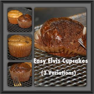 Easy Elvis Cupcakes (3 Variations)- No special flours needed!   Satisfying Eats