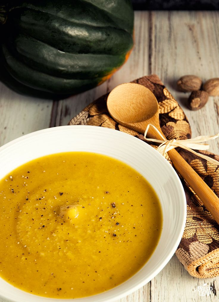 Curried Acorn Squash Soup ~ paleo leap