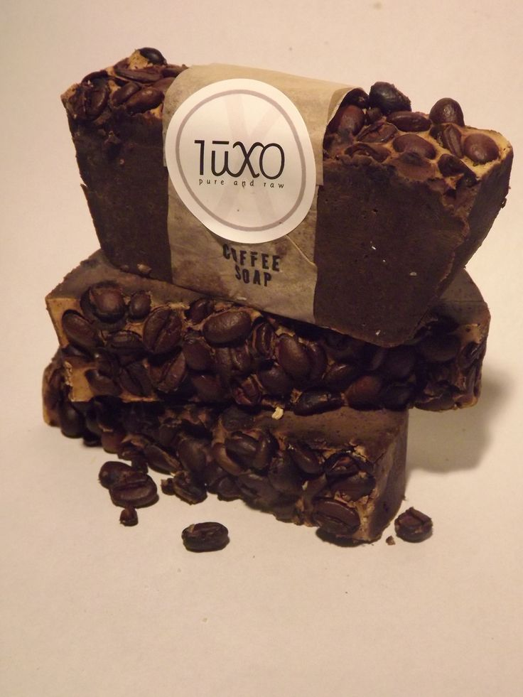 Coffee scrub soap...because our skin also loves caffeine.