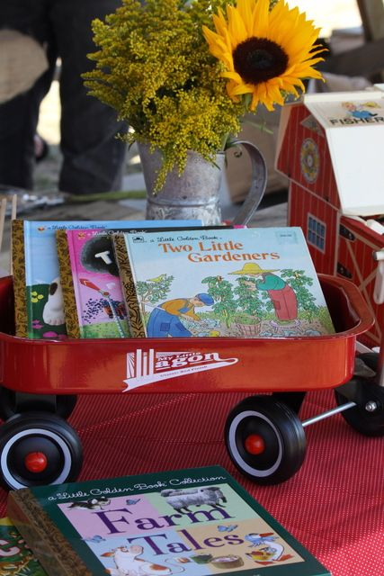 "Photo 12 of 26: Farm, vintage, little Golden Books / Birthday ""A day on the farm"" 