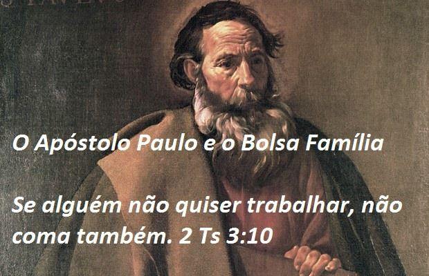 apostolo paulo sobre bolsa familia