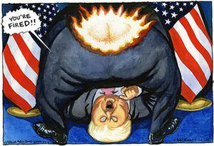 Steve Bell on Donald Trump firing his campaign manager – cartoon | Opinion | The Guardian