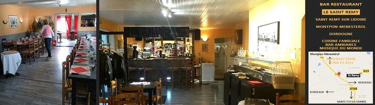 restaurant le saint Rémy à saint Rémy sur lidoire à l'intersection de la départementale 708 et la départementale 33 près de Montpon-Ménéstrérol 24700