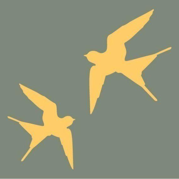 swallow silhouettes