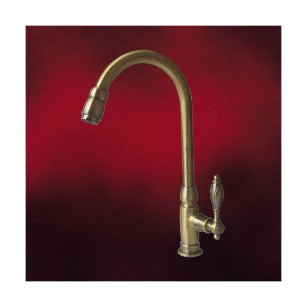 単水栓 手洗器用水栓金具 洗面化粧台用蛇口 水栓蛇口 古金 Ink