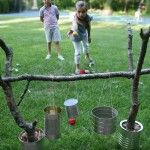 Ball Toss Game. GRANDPA SAVE YOUR PAINT CANS!!!!:{-