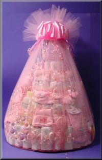 832 best great gift basket ideas images on pinterest gift diy tulle wrapped gift basket negle Images