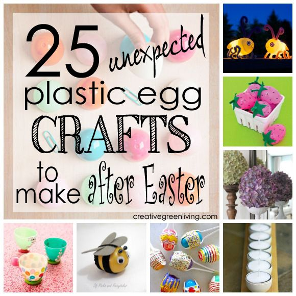 25 Unexpected Plastic Egg Crafts to Make After Easter - some of these things are really cool!