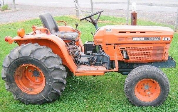 Kubota B9200hst Tractor Operator Manual Tractors Kubota Repair Manuals