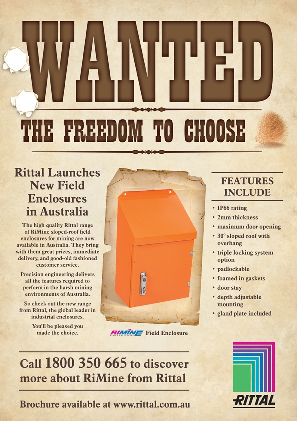 Wanted – the freedom to choose. Press ad for Rittal