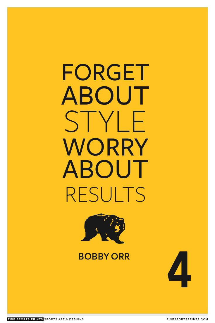 """""""Bobby Orr Quote on Print. See more at www.finesportsprints.com #orr #sportsquote #bruins"""""""