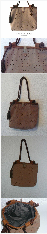 Brown  Shoulder Bag, OOAK Handmade Brown Bag, Brown Handbag, Handmade Brown Tote Bag, Hand Sewn Brown Tote, Suedette Brown Bag, Fake suede .