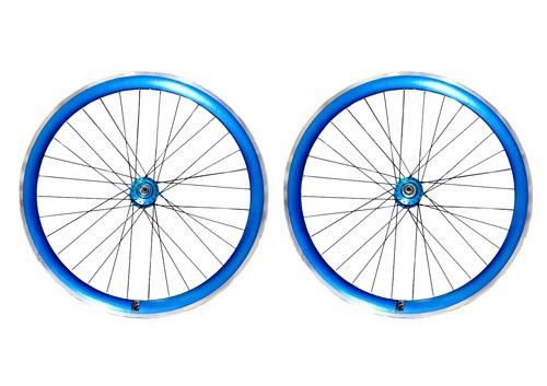Fabrik Blue Single Speed Wheelset