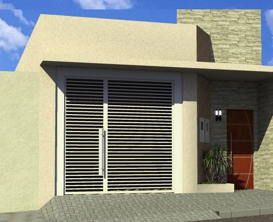 Fachadas de casas simples 5 metros de frente calabaza de for Fachadas de frente de casas