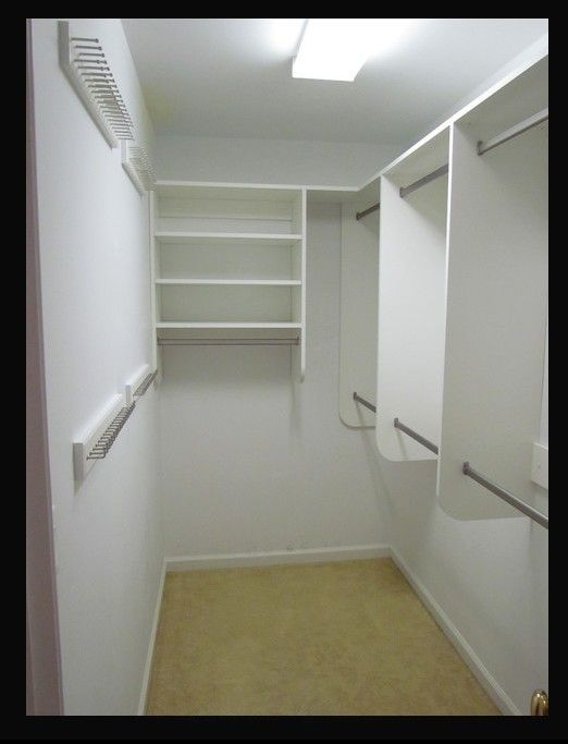build a narrow walk in closet google search