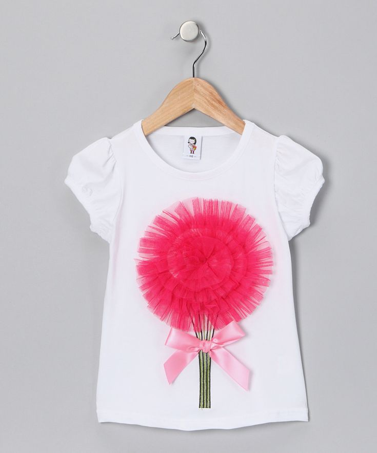 Hot pink girls t-shirt #tulle #satin
