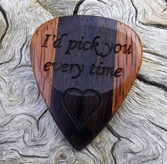 Guitar Picks - Multi-Wood Guitar Pick Premium Quality by NuevoWoodcrafts
