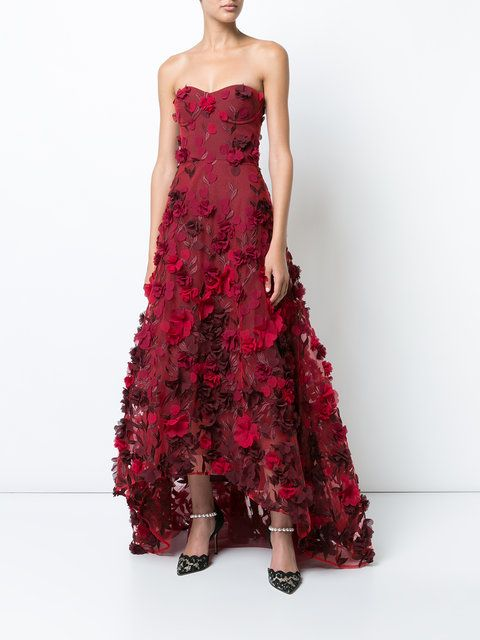 1cd0dbcb Marchesa Notte Floral Embellished Evening Dress - Farfetch | Dresses ...