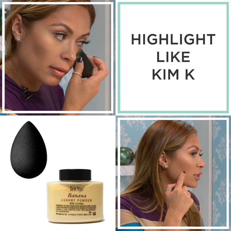 Watch below to learn how to get Kim Kardashian's under eye highlight with Ben Nye Banana Powder. Remember to double check your blending before you go out by snapping a selfie with the flash on.