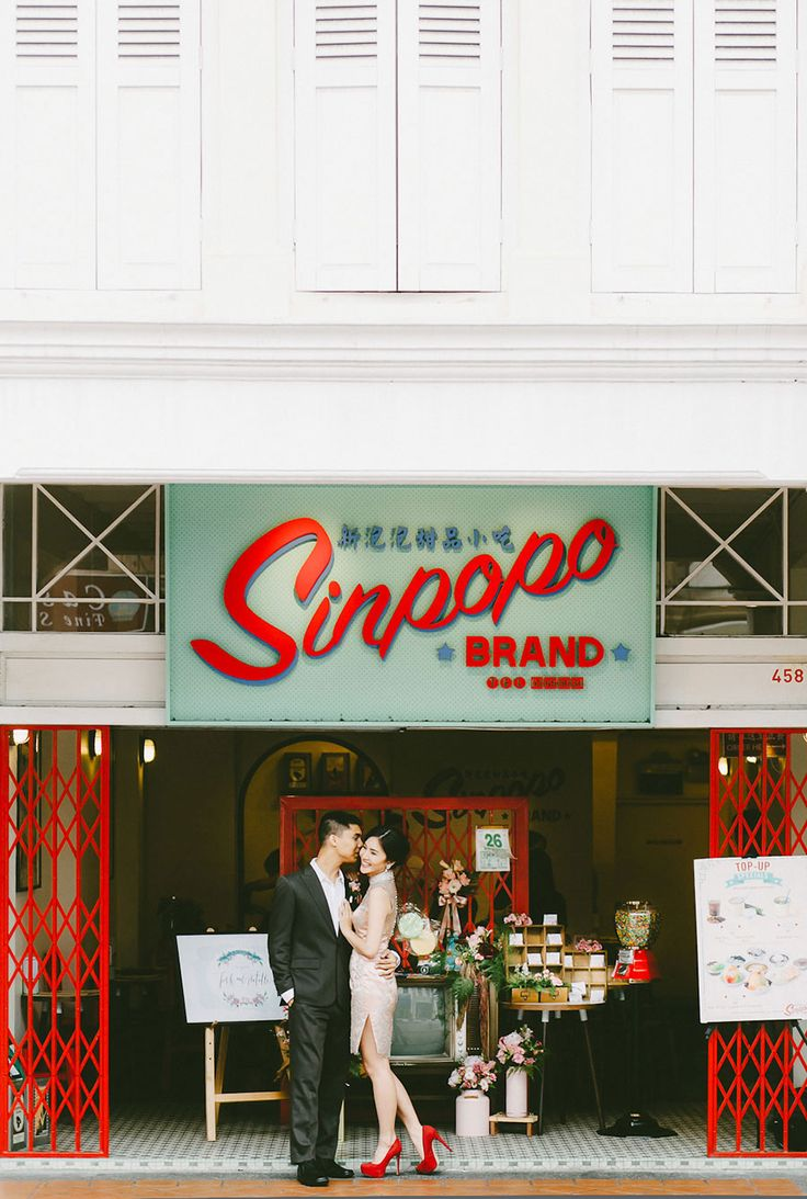 Shot taken in the historic Joo Chiat area | Blast from the Past: A Vintage Singapore Themed Styled Shoot