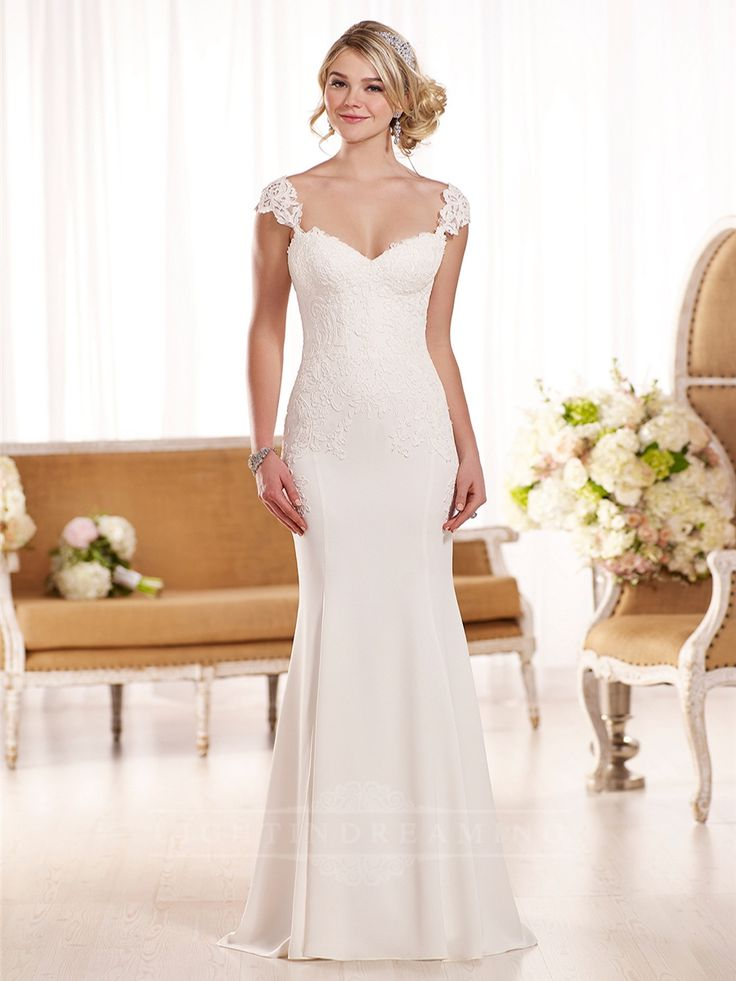 Lace Cap Sleeves Wedding Dress