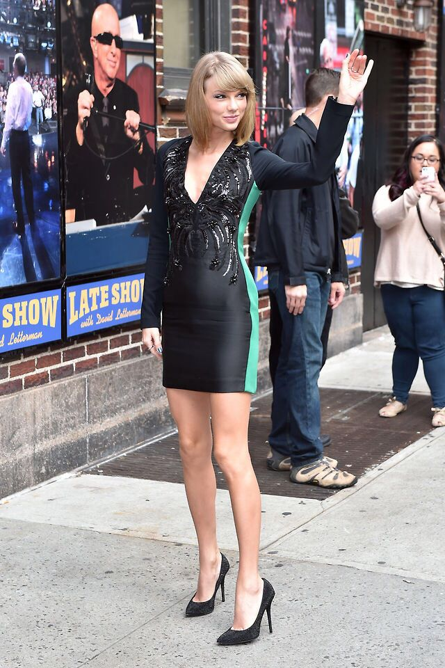 Arriving at The Late Show With David Letterman 10/28/14