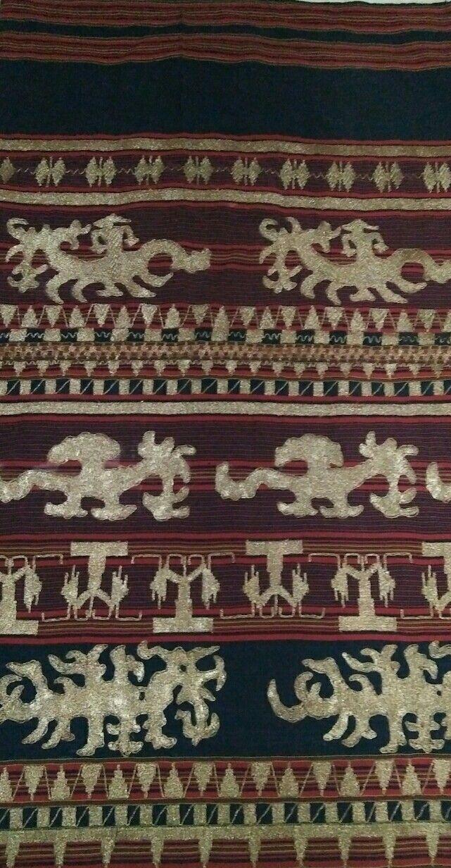 Sarong tapis from lampung Pepadun, motif Animal.Mitos
