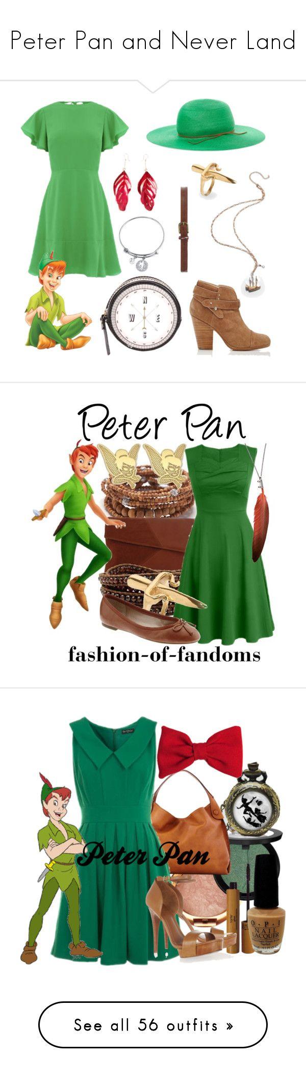 """Peter Pan and Never Land"" by megdelaina ❤ liked on Polyvore featuring Warehouse, Aurélie Bidermann, LeiVanKash, Belk Silverworks, rag & bone, House of Lafayette, Kate Spade, Dorothy Perkins, Lisa Freede and Rare London"