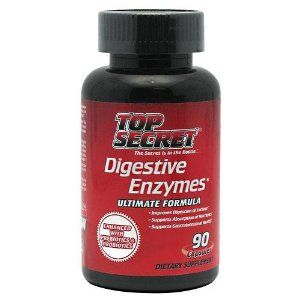 Top Secret Nutrition Digestive Enzyme Capsules, 90 Count by Top Secret Nutrition. $18.99. Supports a healthy digestive and immune system. Reduces instances of bloating, diarrhea and cramping. Assists in the body's natural production of b vitamins and vitamin K. Improves digestion of all foods. Helps absorption of nutrients. Helps digest lactose. Helps reduce bloating. Supports healthy microflora growth. Top Secret digestive enzymes is a unique and comprehensive blend of n...