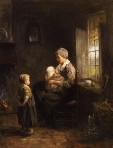 Jozef Israels, Mother and Child, 19th century. Mildred Lane Kemper Art Museum, Washington University in St. Louis.