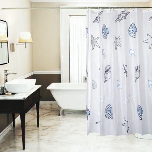 Pics Of Shower Curtain Liner Seashell Mildew Resistant Waterproof Bathroom Decor