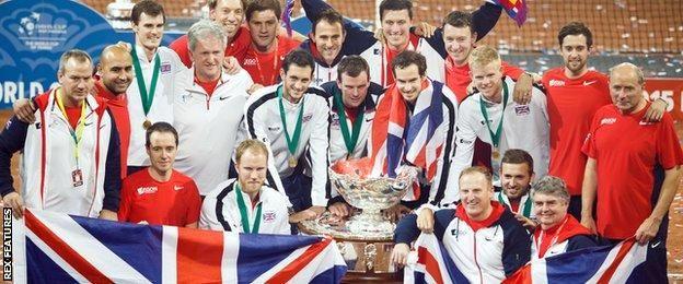 Great Britain's Davis Cup-winning team