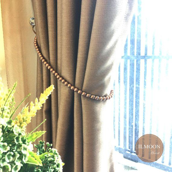 Classical And Shabby Chic With Pearl Touch Curtain Tie Backs For