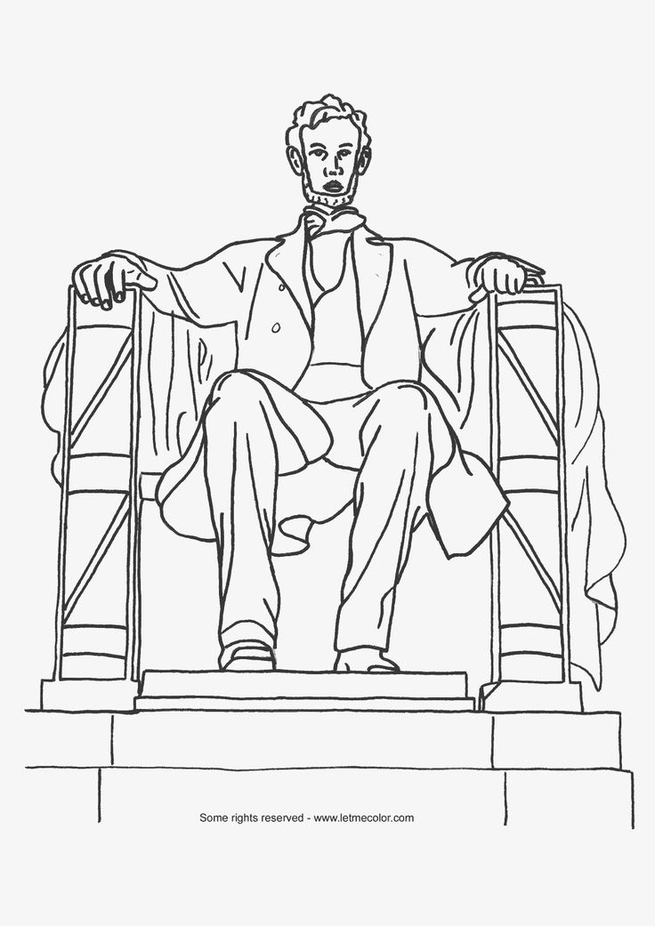 abraham lincoln coloring pages for kids - photo #25