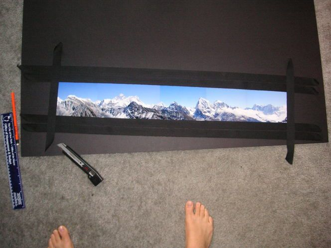 How To Diy Frames For Panorama Pics Craft Handmade Fabric Photography Frame Diy Diy Frame Panorama Panoramic Photo