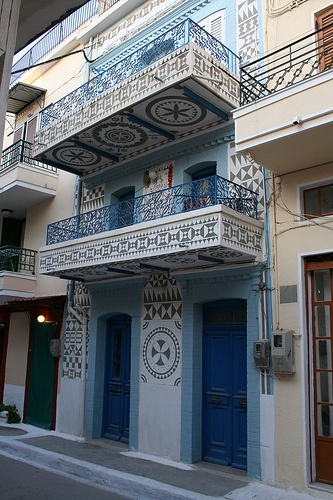 Pyrgi - Chios - Greece. Look at the tile detail underneath. Not for show, just cause you can.