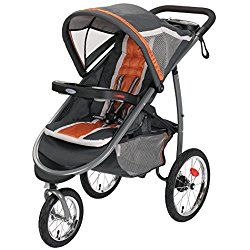 Graco FastAction Fold Jogger Click Connect Stroller, Tangerine Orange