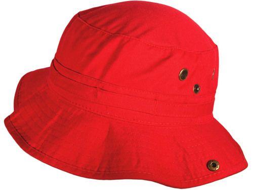 BK Caps Cotton Bucket Hats Caps (Red Size: M/L)